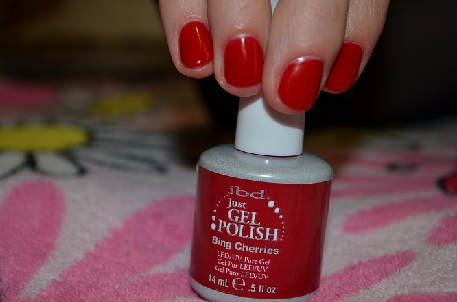 гель лак ibd just gel polish bing cherries