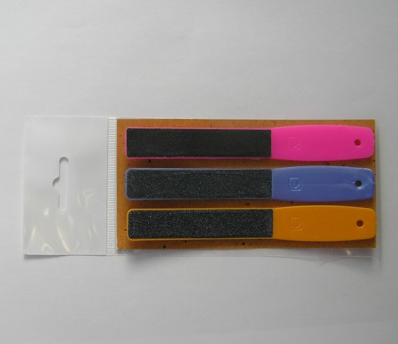 Сталекс ПЛ-01 Пилочка цветная, для ногтей 120/150/180 грит1