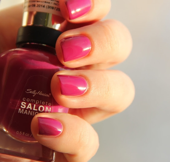 Лак Sally Hansen Salon №414 Cherry, Cherry, Bang, Bang
