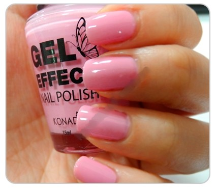 Лак Konad Gel Effect Nail Polish See Through Pink
