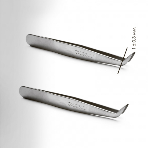 Сталекс П-11 Пинцет широкий для создания рисунка на ногте3