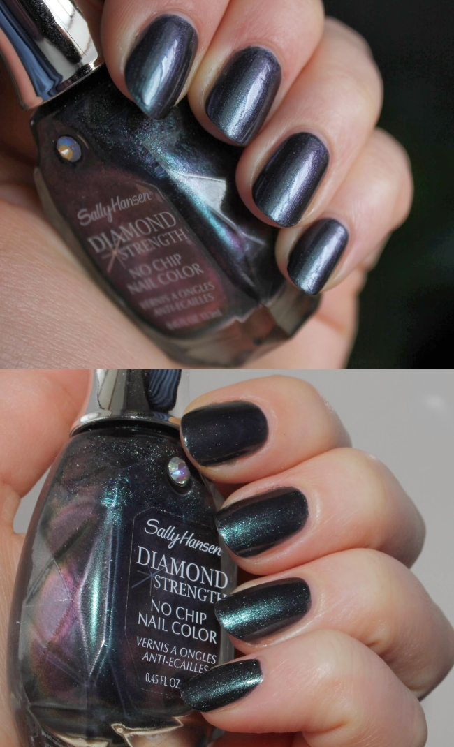 Лак Sally Hansen Diamond strength №470 Black Tie