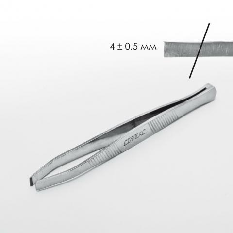 Сталекс П-01 Пинцет для бровей с прямыми рабочими кромками5