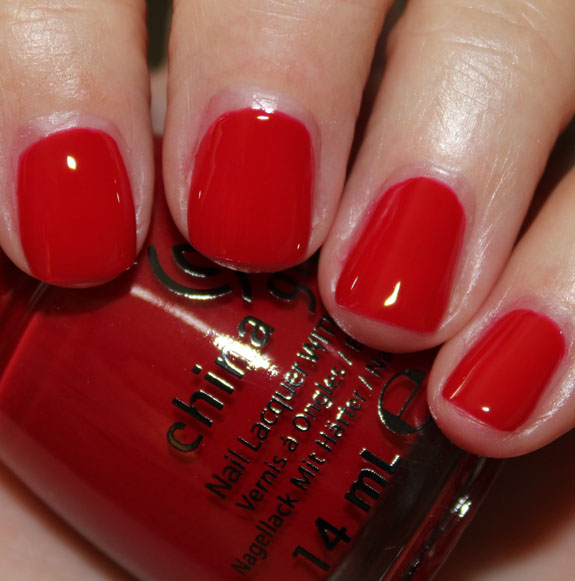 лак China Glaze Red Satin