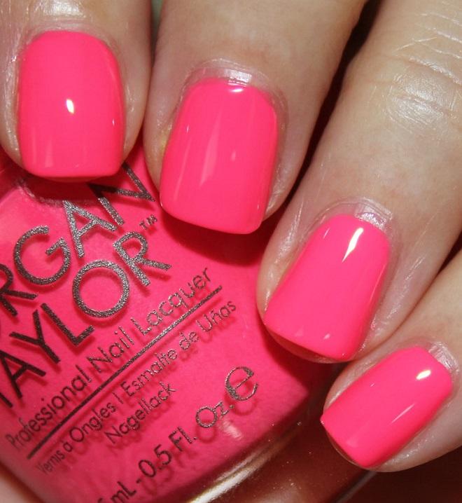 Morgan Taylor Pink Flame ingo