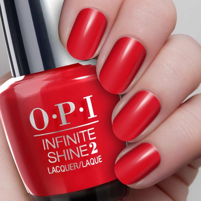 Лак OPI Infinite Shine Lacquer Unequivocally Crimson