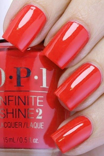 Лак OPI Infinite Shine Lacquer Unrepentantly Red
