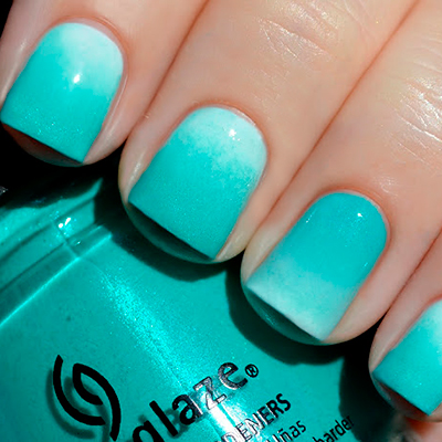 China Glaze OMBRE Wait teal you see!