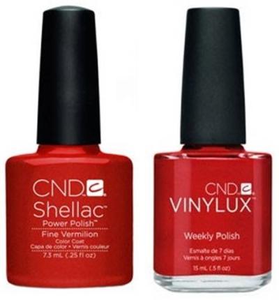 CND shellac vinylux fine vermilion