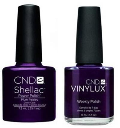 CND shellac vinylux plum paisley