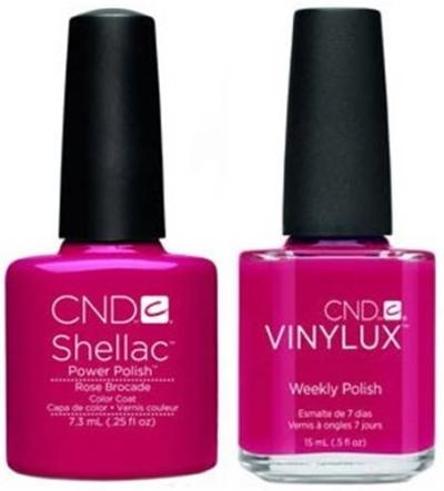 CND shellac vinylux rose brocade