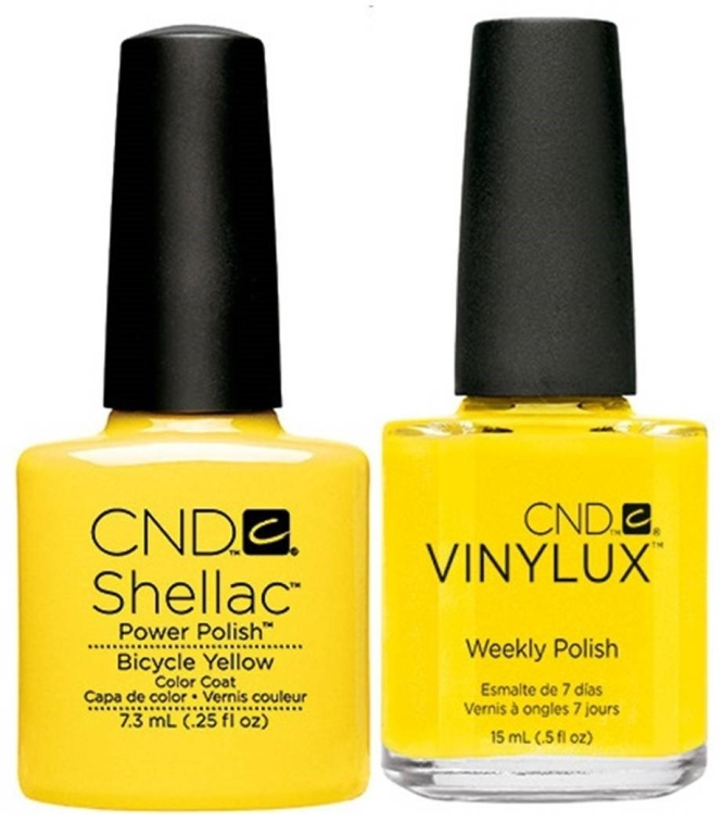 CND Shellac и Vinylux Bicycle Yellow