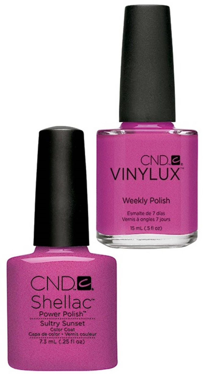 CND Shellac и Vinylux Sultry Sunset