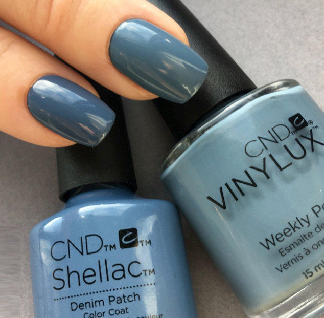 Vinylux и Shellac Denim Patch