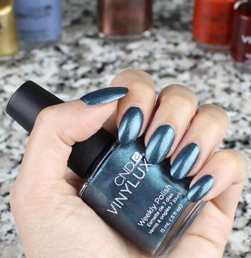 Vinylux и Shellac Fern Flannel