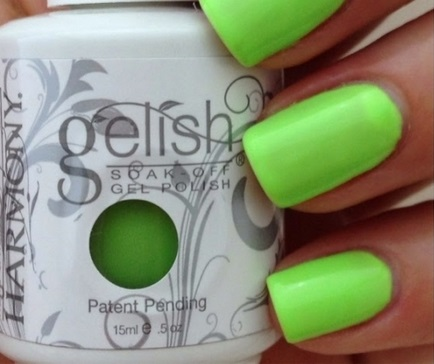 harmony gelish lime all the time