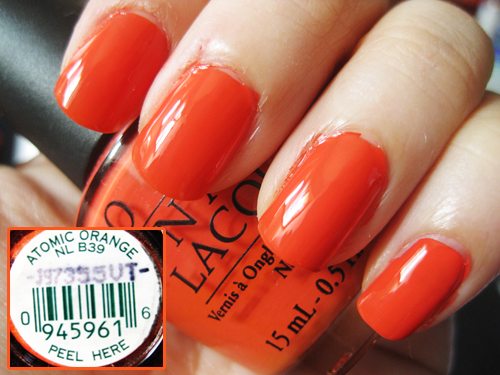 Лак OPI Atomic Orange 15 мл