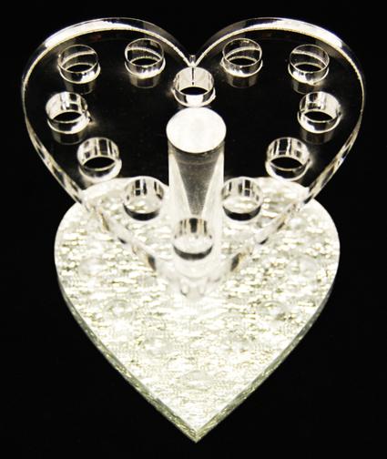 подставка для кистей в форме сердца
