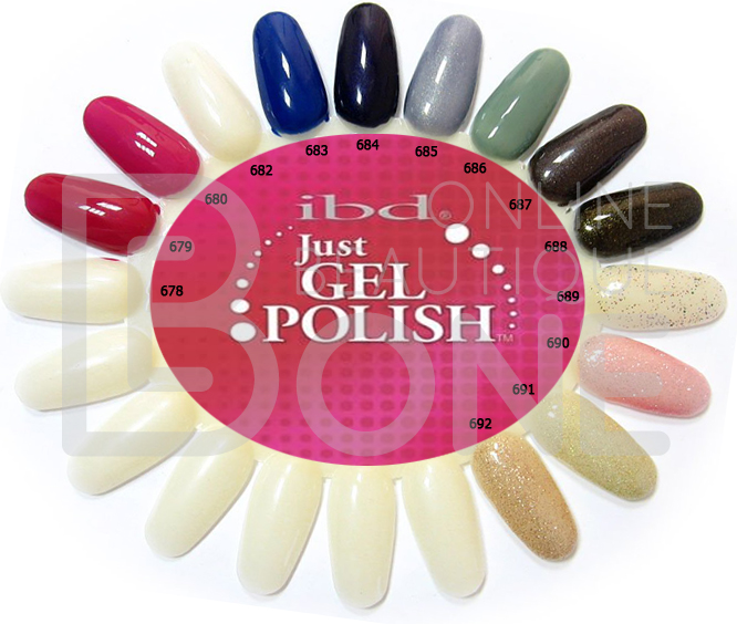 Палитра гель-лаков IBD Just Gel Polish цвета 56679-56692