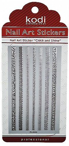 Nail Art Stickers FL009 Silver