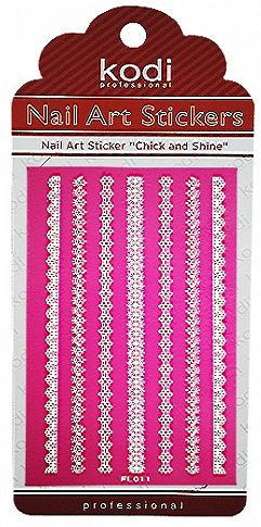 Nail Art Stickers FL011 White