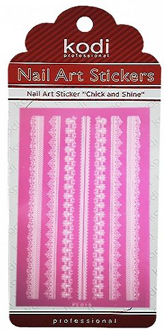Nail Art Stickers FL019 White