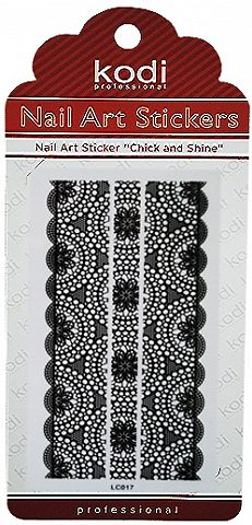 Nail Art Stickers LC017 Black
