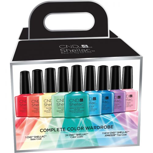 Shellac Color Wardrobe Kit 24 Colors + Top Coat Xpress5
