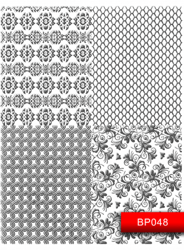 Nail Art Stickers BP048  Silver