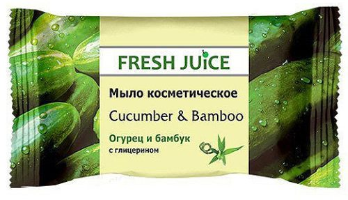Soap cosmetic Cucumber and Bamboo 75 гр