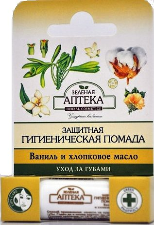 Protective Chapstick with Vanilla and Cotton Oil 3,6г