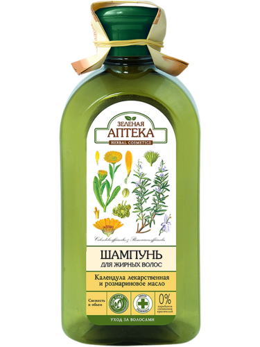 "Shampoo for Oily Hair ""Calendula and Rosemary Oil"" 350мл"