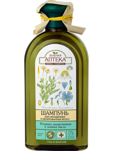 "Shampoo for Colored and Highlighted Hair ""Chamomile and Flaxseed Oil"" 350мл"