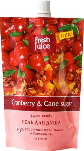 Shower Gel Doypack Cranberry and Cane sugar 170мл