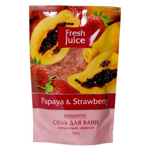 Bath Salt Doypack Papaya and Strawberry 200мл