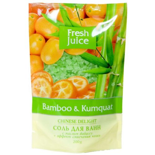 Bath Salt Doypack Вamboo and Kumquat 200мл