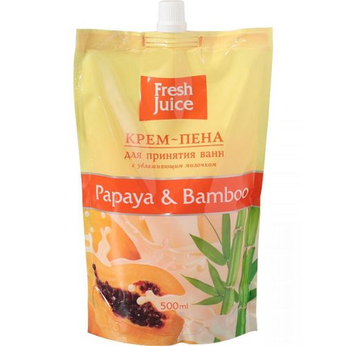 Cream Foam for Bath Doypack Papaya and Bamboo 500мл