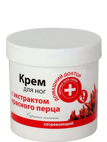 Foot Cream with An Extract of Red Pepper 250мл