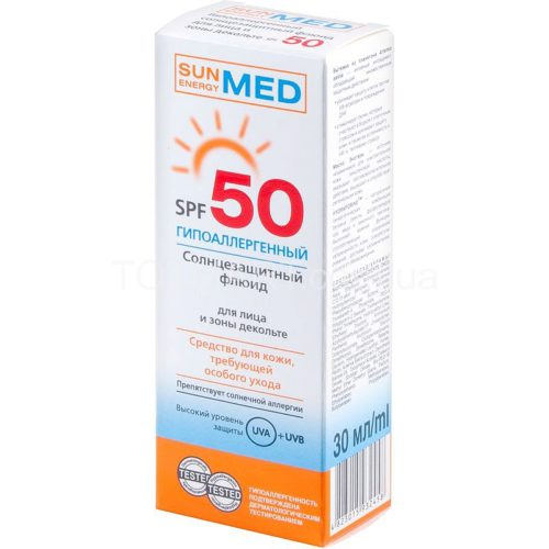 MED Hypoallergenic Sunscreen Fuid for Face and Decollete SPF 50 30 мл