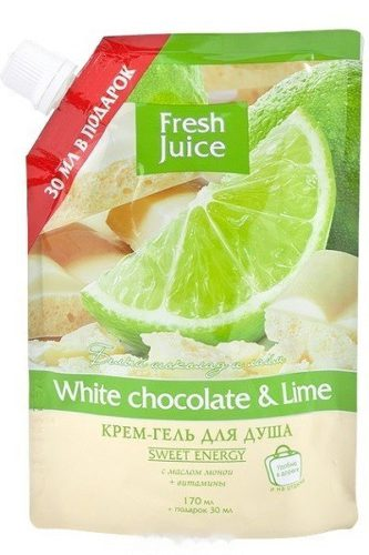 Cream-Shower Gel Doypack White chocolate and Lime 200мл