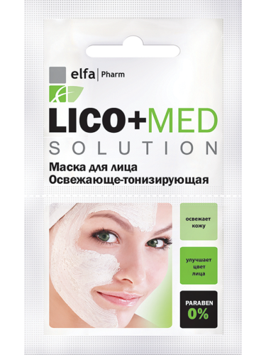 Lico+Med Refreshing Mask-Toning 20мл