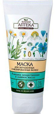 "Hair Mask ""Daisy and Flaxseed Oil"" for Colored and Highlighted Hair 200мл"