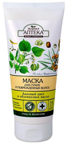 "Hair Mask ""Linden Flowers and Sea Buckthorn Oil"" for Dry and Damaged Hair 200мл"