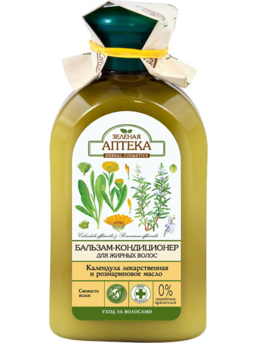"Balm Conditioner for Oily Hair ""Calendula and Rosemary Oil"" 300мл"