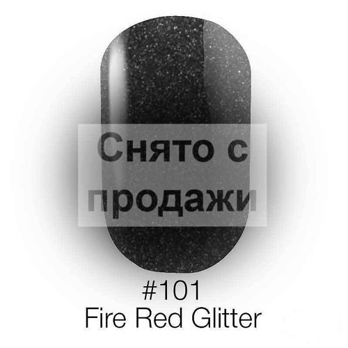 Gel Polish №101 Fire Red Glitter 12 мл