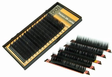 Curved Eyelashes L 0,10 (16 rows: 9-1,10-4,12-4,13-1) Butterfly Package