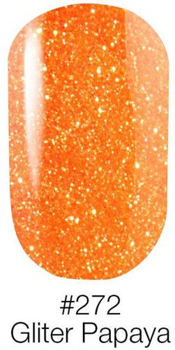 Gel Polish Neon Color №272 Gliter Papaya 6мл