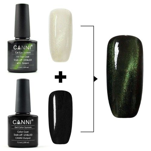 Top Coat Cats Eye Green 7,3 мл