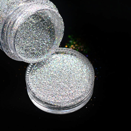 Nail Art Glitter Holographic Silver №32