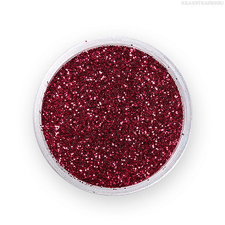 Nail Art Glitter Dark Red №44